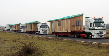 Static Buildings Transported in Convoy